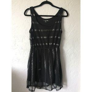 Black sequins stripe dress- Forever 21